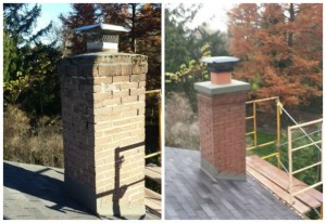 Chimney Restoration and Lead flashing