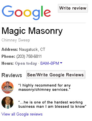 GoogleReviews For MagicMasonry